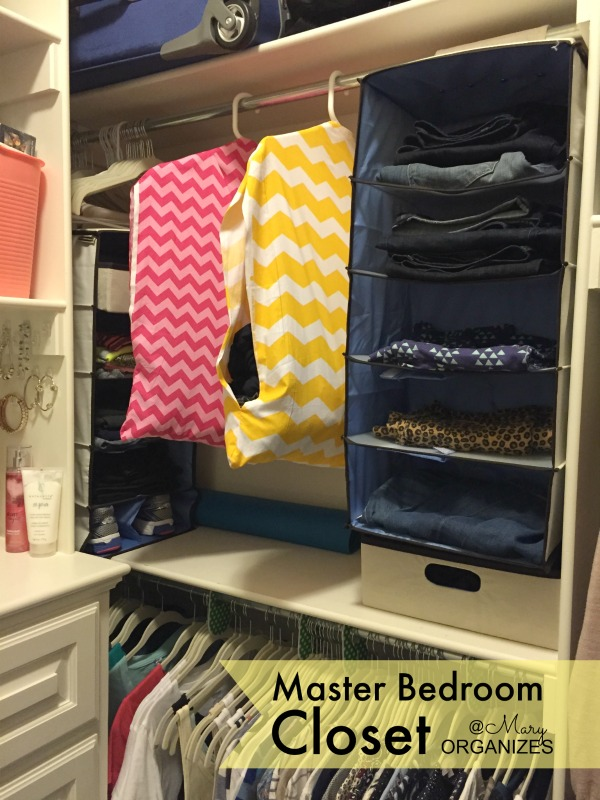 MBR Closet - laundry bags and hanging clothes divider