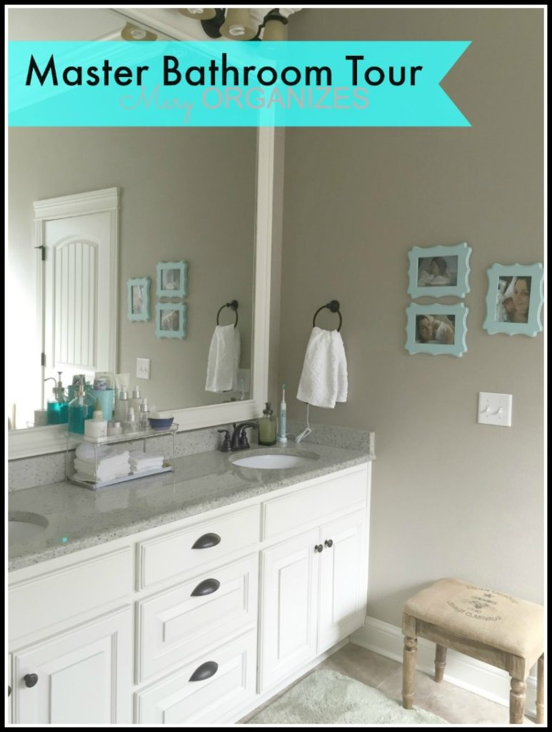 Mary ORGANIZES Master Bathroom Tour - updated tour