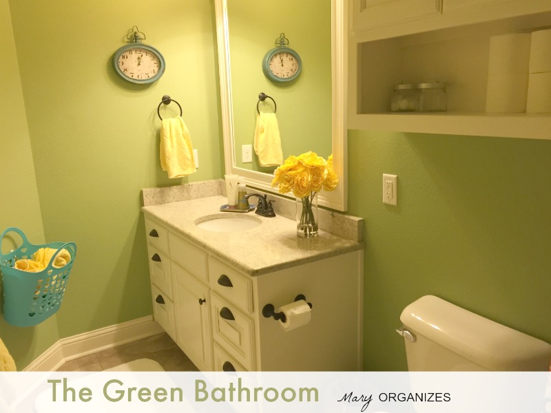 The Green Bathroom of Mary Organizes