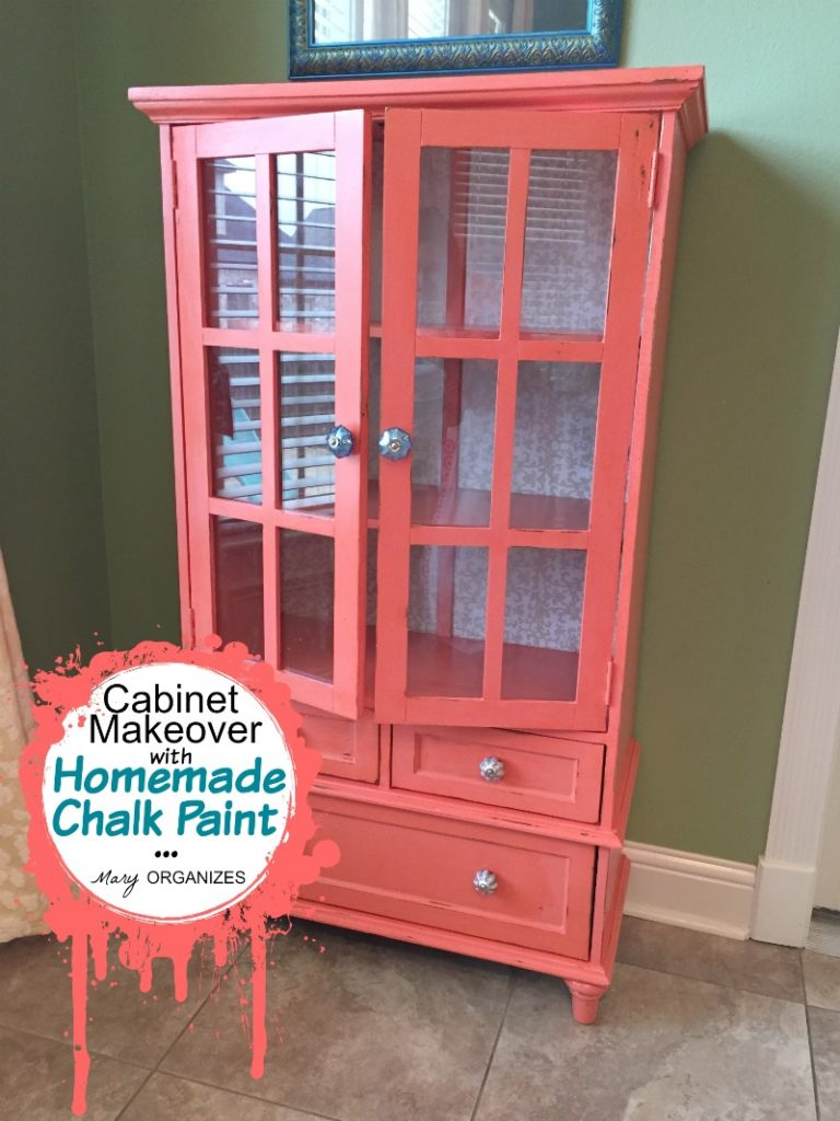 Cabinet Makeover with Homemade Chalk Paint 1