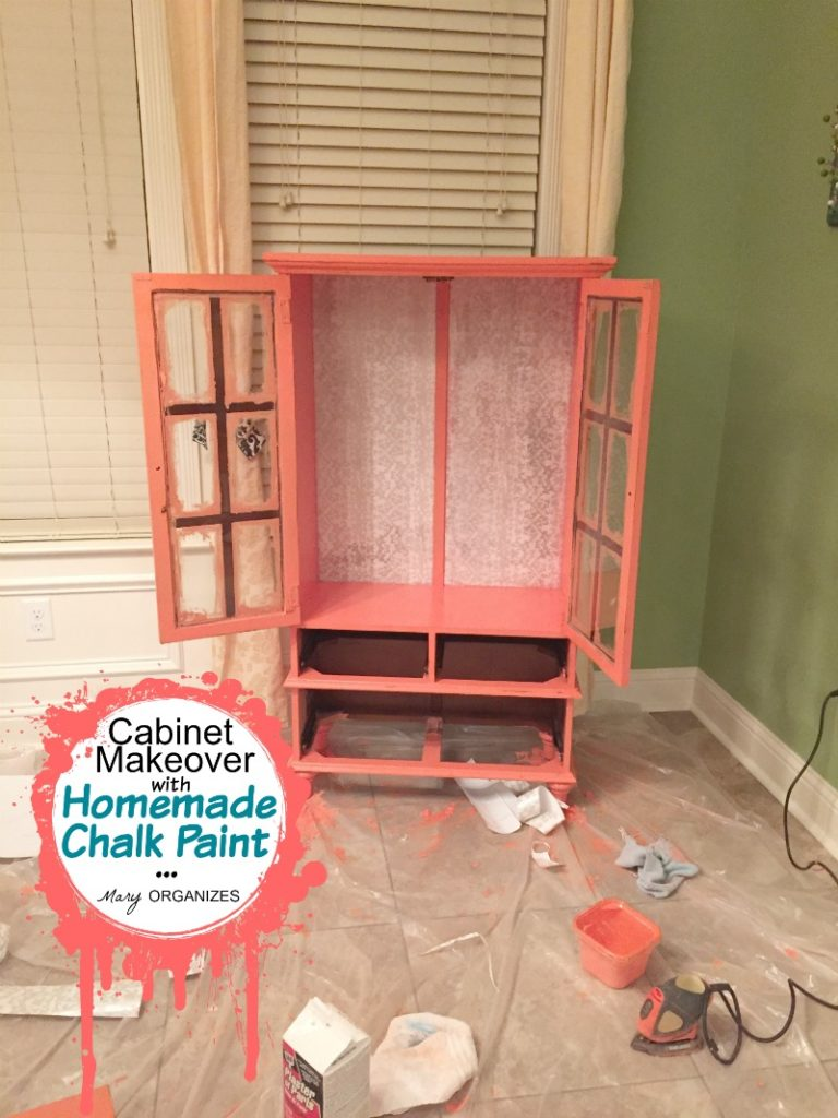 Cabinet Makeover with Homemade Chalk Paint - polyurethane coat