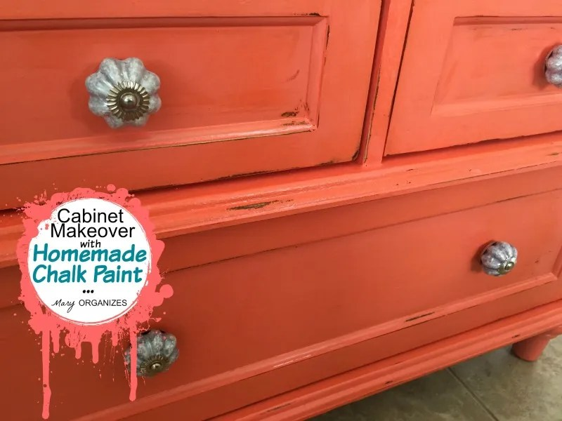 Cabinet Makeover with Homemade Chalk Paint - pulls 2