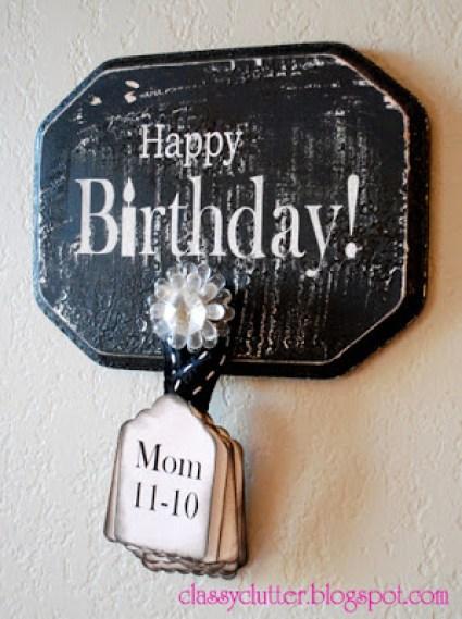 ClassyClutter - Birthday Wall Board