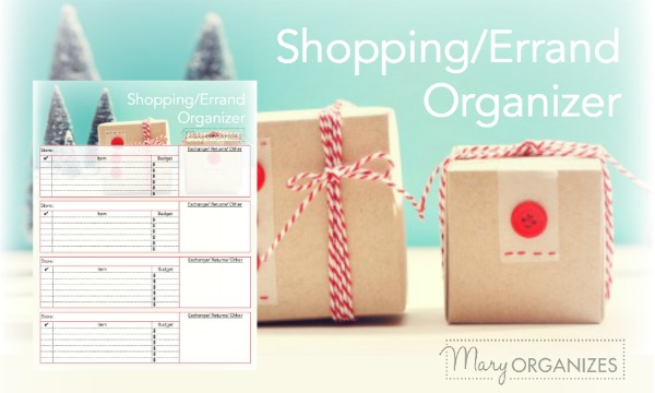 Shopping and Errand Organizer