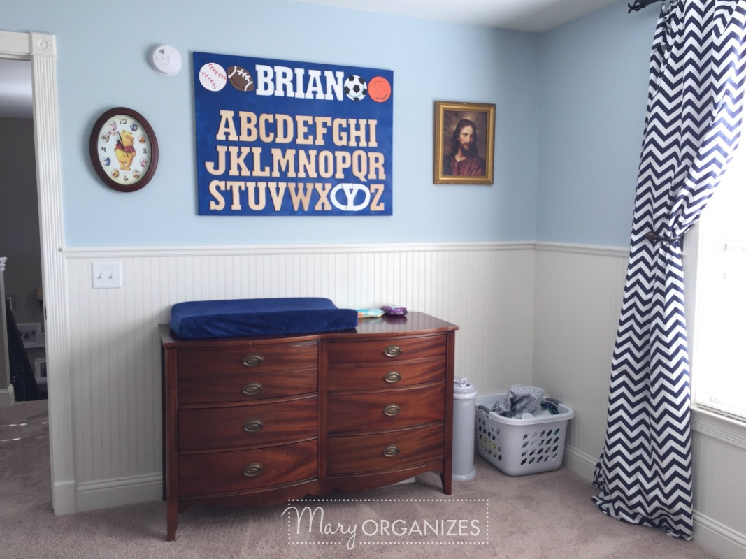 Boys Room Tour - Changing Table
