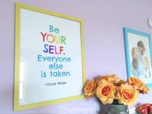 Oscar Wilde Quote FREE Printable & Art Display Yardstick