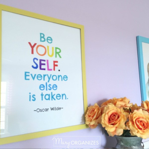 Oscar Wilde Quote FREE Printable & Art Display Yardstick