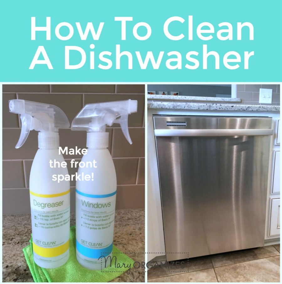 How To Clean A Dishwasher - make the outside sparkle -s