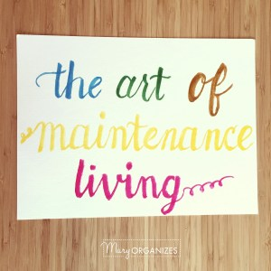 The Art of Maintenance Living (and NOT Playing Catch-up All.The.Time!)