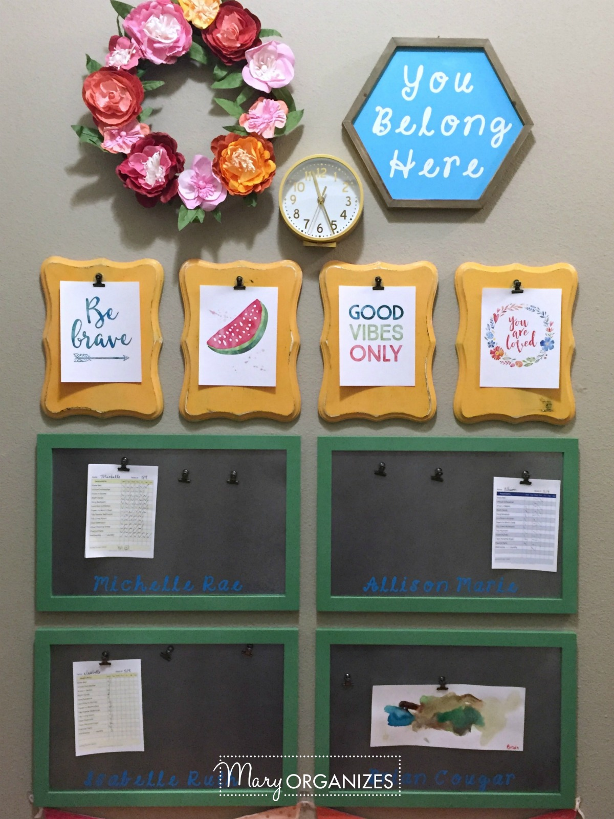 Kids Command Center - for hanging chore lists and more 4