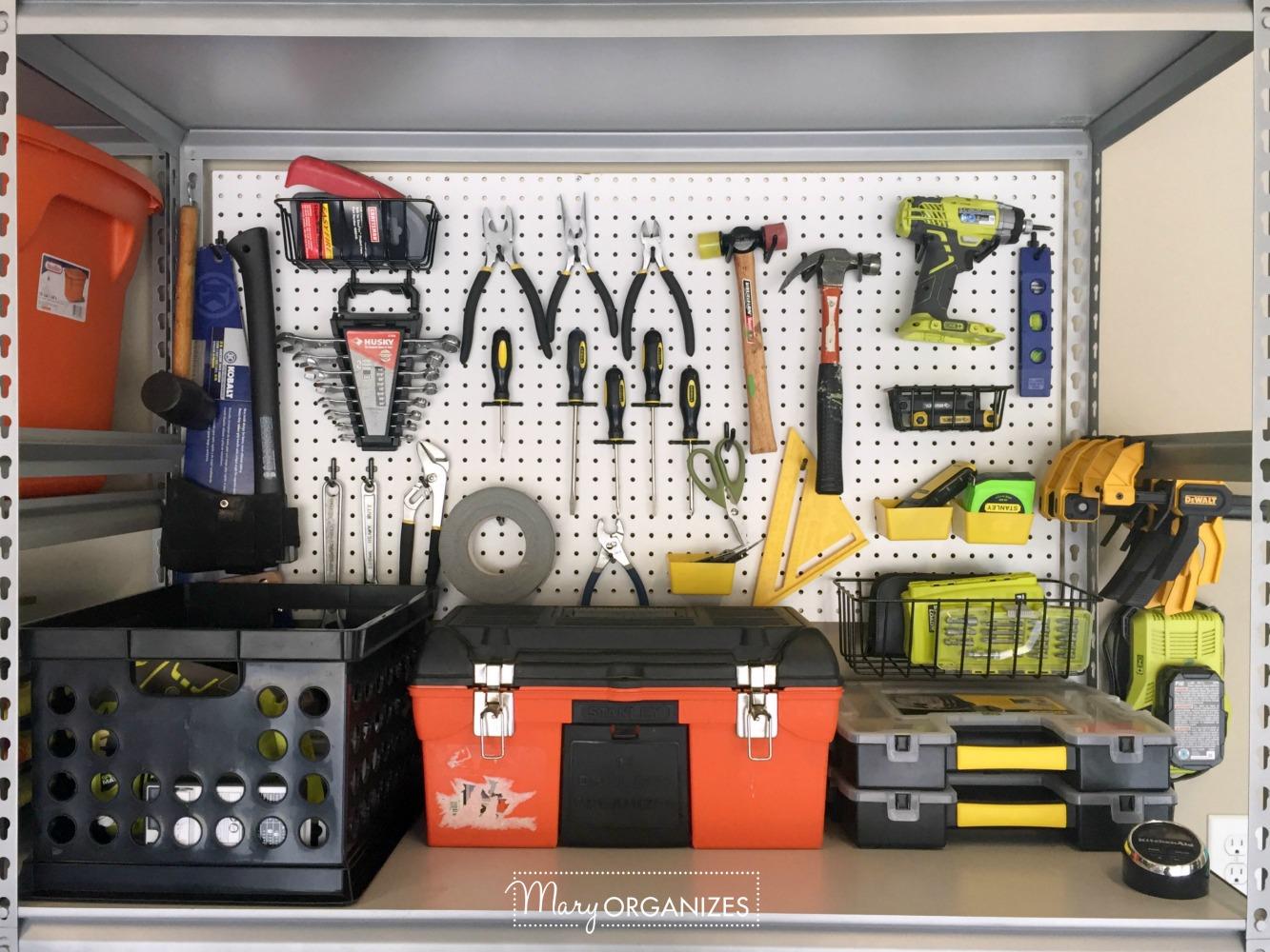 My Re-Organized Garage Reveal 9