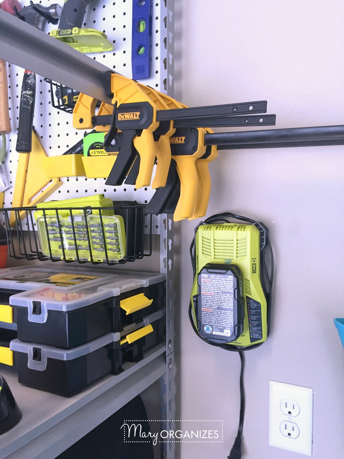 Pegboard Hack and Organizing Garage Shelves 2
