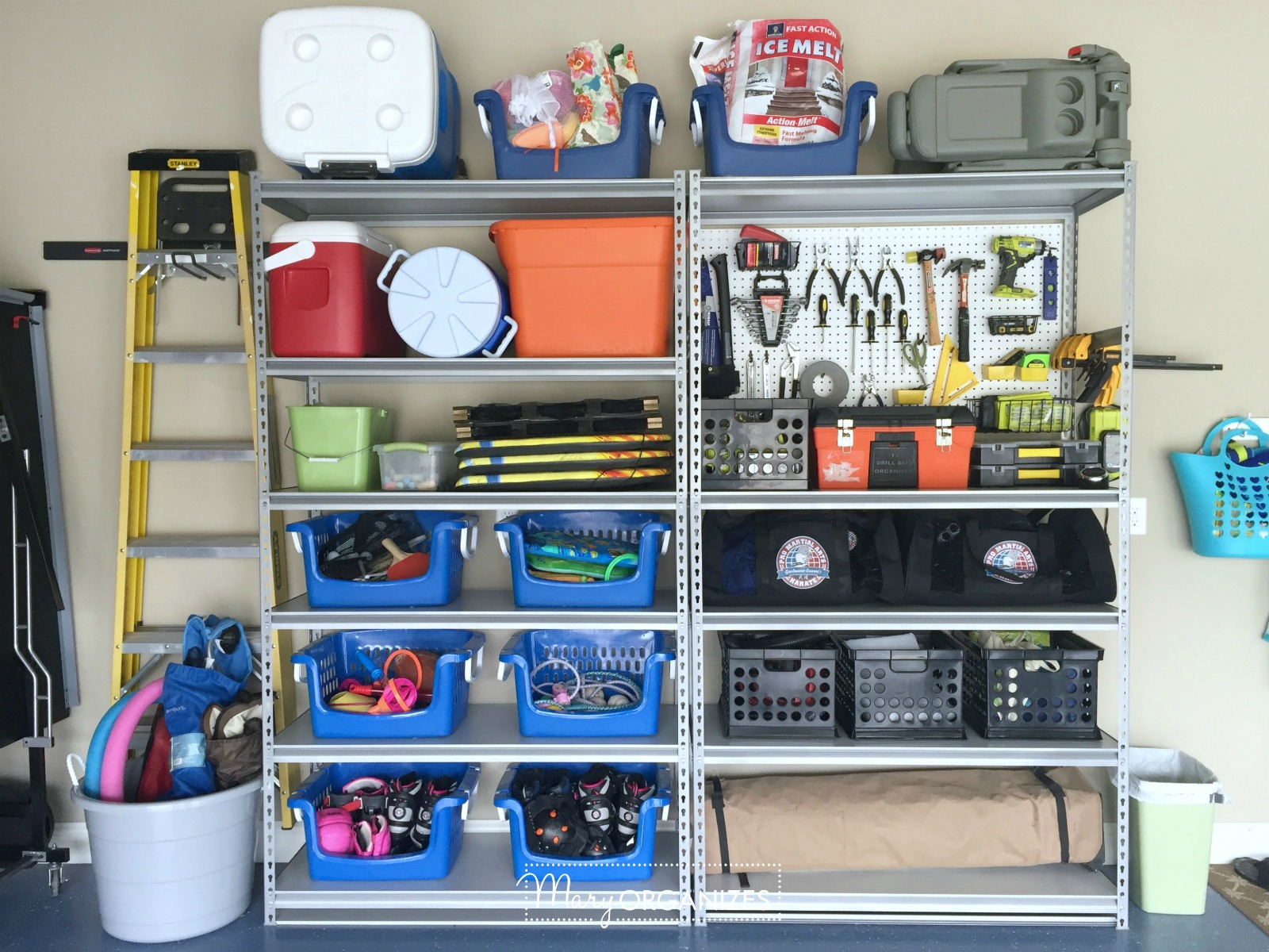 Pegboard Hack and Organizing Garage Shelves 7. Pegboard Hack   Organizing Garage Shelves   creatingmaryshome com