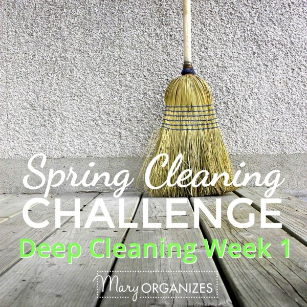 Week #1 of Deep Cleaning {Spring Cleaning Challenge 2016}