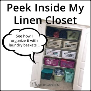 Peek Inside My Linen Closet {Updated}