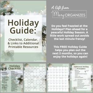 2016 Holiday Guide {FREE PRINTABLE}