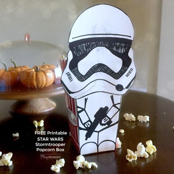 STAR WARS Stormtrooper Popcorn Box {FREE PRINTABLE}