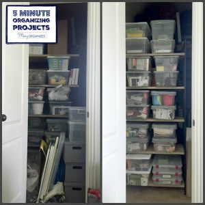 Organizing My Monica Closet – 5 Minute Organizing Projects