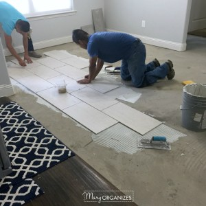 Renovation: Wall Repair, Wood Floor Progress, and Tile Goes Down (Phase 2)