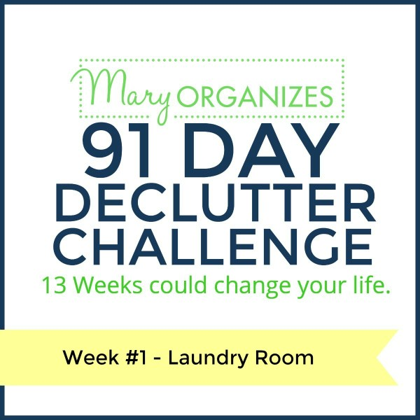 Week 1 – Laundry Room {91 Day Declutter Challenge}