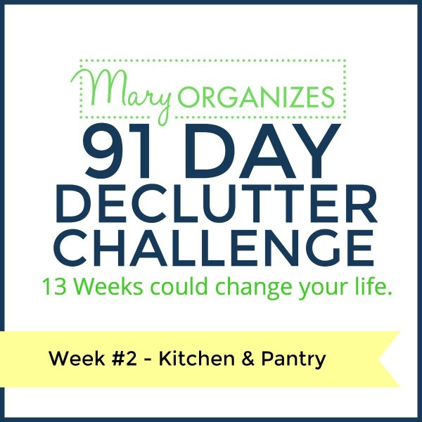 Week 2 – Kitchen & Pantry  {91 Day Declutter Challenge}