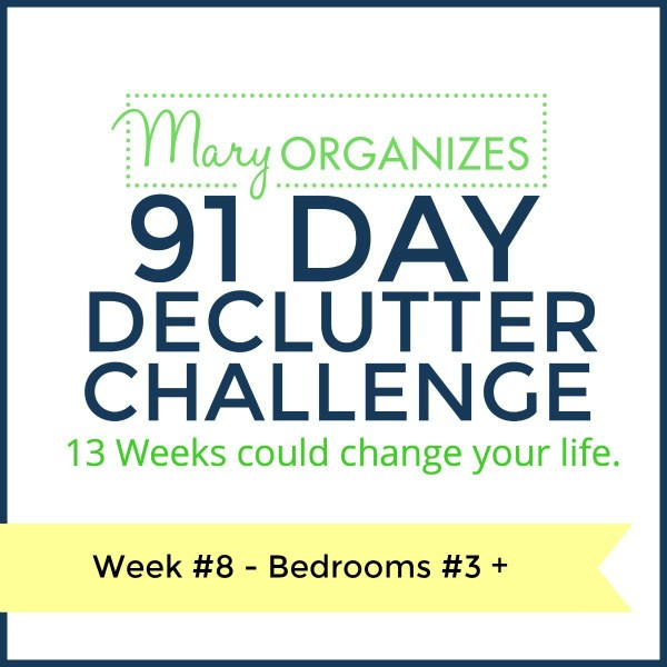 Week 8 – Bedroom #3+ {91 Day Declutter Challenge}