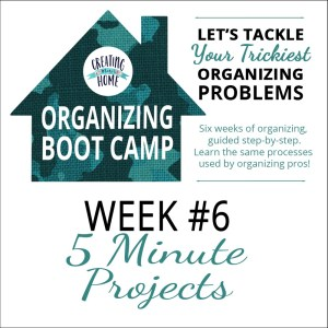 5 Minute Organizing Projects {OBC WEEK 6}
