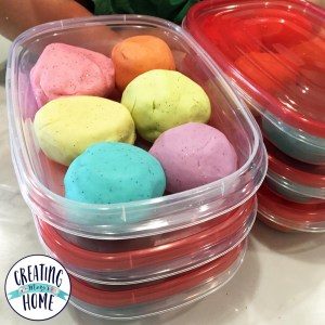 Easy Playdough {Glitter Rainbow Style!}