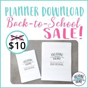 PLANNER DOWNLOAD: Back-to-School Sale!!!