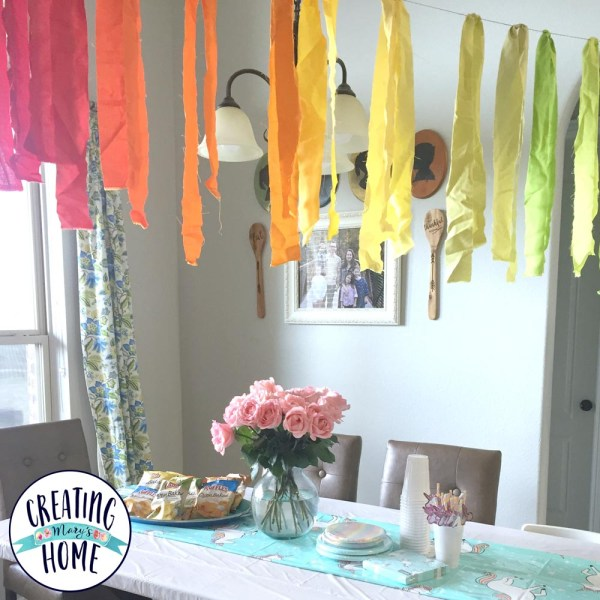 Rainbow Banner from Jelly Roll Fabric