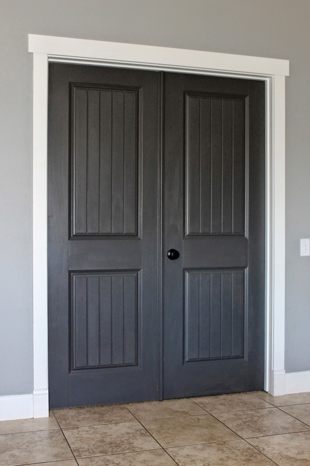 (via From the Carriage House) & White Trim Dark Paint -\u003e Why I\u0027m Going Dark With My Doors ...