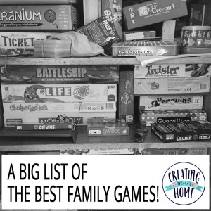 A Big List of Games for More Family Time!!!!!
