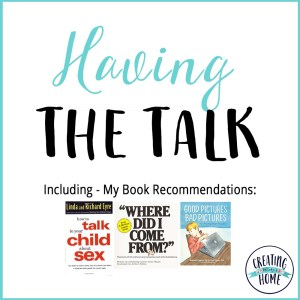 Having THE TALK. (My Book Recommendations)