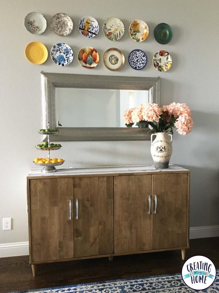 Plates On Wall How To Hang Plates On Your Wall  Creatingmaryshome
