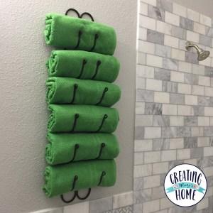 Wine Rack as Towel Rack: Vertical Bathroom Storage
