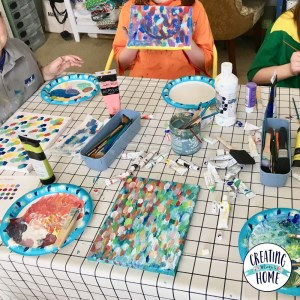 A Year of Painting With Kids: February