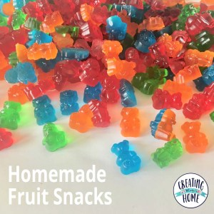 Homemade Fruit Snacks {Jello or Juice}