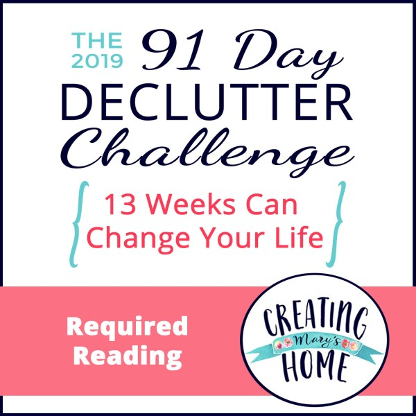 Required Reading {Getting ready for the 91 Day Declutter Challenge!}