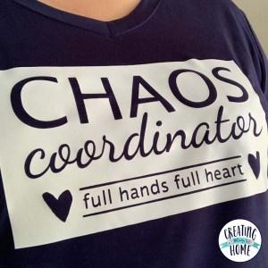 Chaos Coordinator T-shirt (FREE cut file)