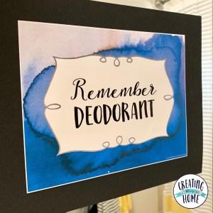 Remember Deodorant