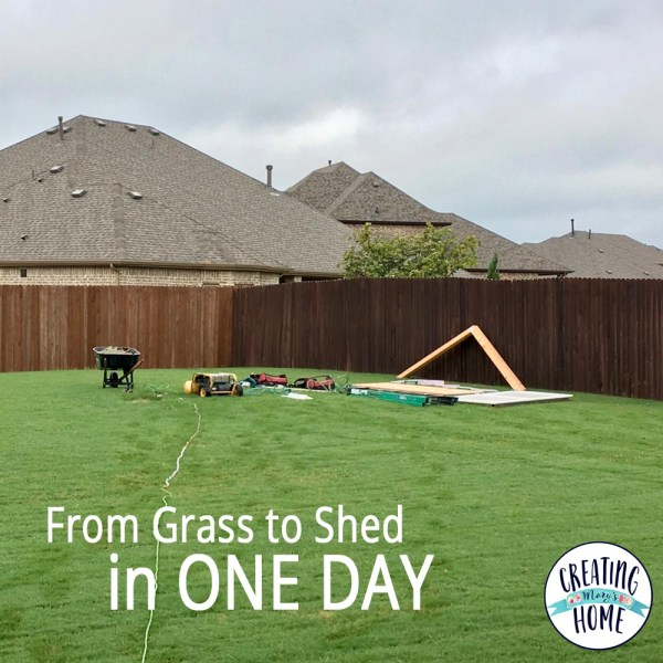 From Grass to Shed in ONE DAY