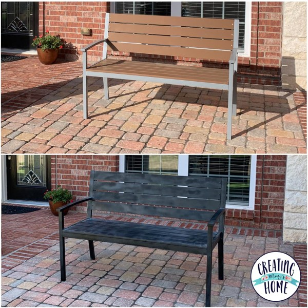 Black Bench Makeover