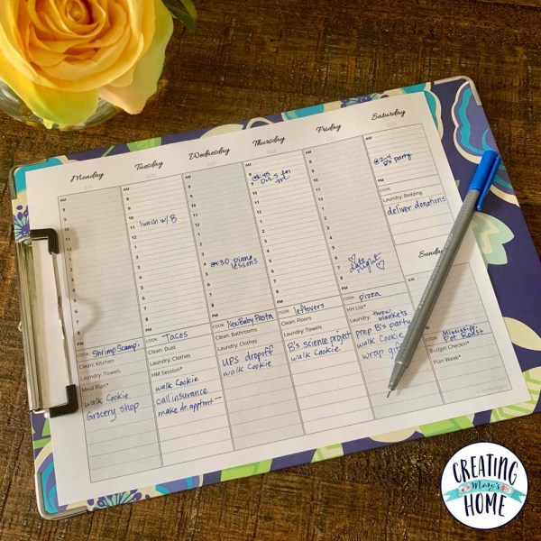 Weekly Planning Sheet (FREE Printable!)