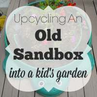 Upcycling an Old Sandbox Into a Kid's Garden