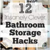 12 Insanely Clever Bathroom Storage Hacks