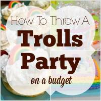 How to Throw a Trolls Party on a Budget
