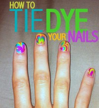 C.R.A.F.T. # 82: Tie Dye Nails {nail design} {marble nails