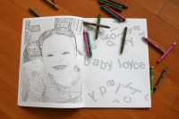 Personalized Coloring Book {coloring pictures}   DIY