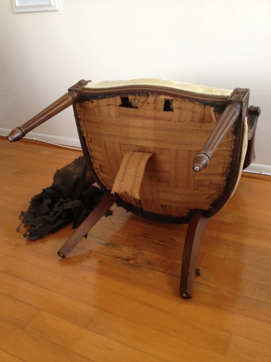 removing webbing from old chair