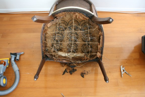 springs on an old chair